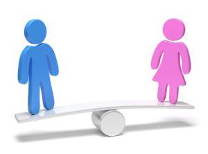 Balance zwischen Mann und Frau