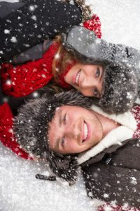 Paar im Winter