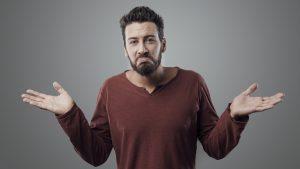 Männlich-zwispältige Reaktion auf eine Kontaktsperre